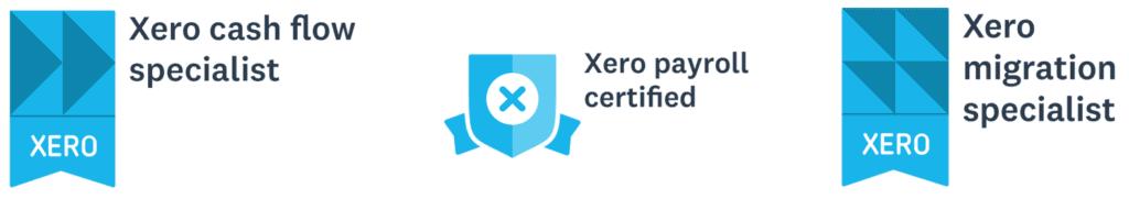 Xero Cash Flow Specialist, Xero Payroll Certified, Xero Migration Specialist